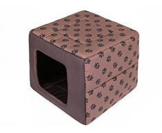 Hobbydog R1 BUTJBL2 Cuccia per Cani, Misura 1, 40 x 40 cm, in Codurastoff Resistente, Lavabile a 30 °C, Resistenza ai Graffi, Prodotto Europeo, S, Marrone, 500 g