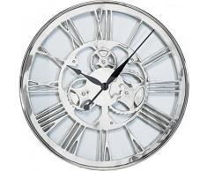 KARE Orologio da Parete Gear, Argento, 60 x 6 x 60 cm