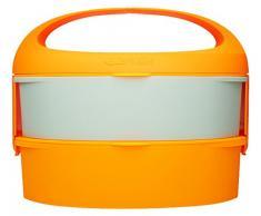 Outlook Design G. Lunch Borsetta Porta Pranzo con Due Contenitori, Adatti a Microonde e Frigo, ABS e Manico in Silicone, Arancio