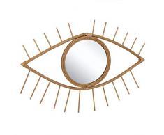 Dcasa bambù Forma Occhio Specchi da Parete Mobili Adesivi Decorazione della Casa Unisex Adulto, Colore, Unico