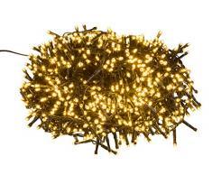 Filo di luci LED con 1000 LED in bianco caldo, con funzione timer 8 ore, per feste, Natale, decorazione, matrimonio, come luce datmosfera, ca. 25 m