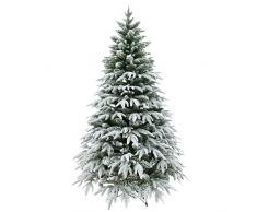 Shatchi Albero di Natale Artificiale 1,8Â m 180Â cm di Neve Elegante Natale casa Decorazioni