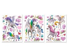 Walltastic 45989 Wall Stickers, Multi-Colour, 3 Large Sheets