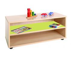 Mobeduc 600101HP13-Mobile/superbajo Mobiletto per bambini, in legno, colore: verde mela/legno naturale, dimensioni 90 x 40 x 44 cm