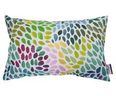 Tom Tailor T di Colorful Spots Fodera per Cuscino, Cotone, Verde/Multi, 30Â x 50Â x 0.05Â cm