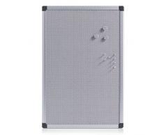 Zeller 11155 - Lavagna magnetica con cornice in alluminio, 60 x 40 cm