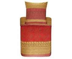 Bassetti MONTEFANO Biancheria da Letto, Cotone, Colore: Rosso, 155 x 220