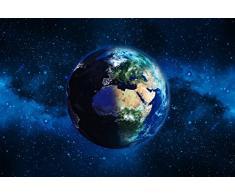 Scenolia Carta da Parati Poster panoramico Planete Terra 4 x 2,70 m | Decorativo e Foto Parete XXL qualità HD