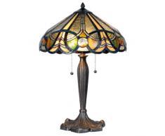 La Casa di Tiffany 5ll-5299 Lampada da Tavolo, Multicolore