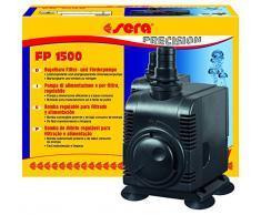 Sera 30596 Filtro e pompa di mandata FP 1500 regolabile per acqua e mare dolce (Qmax: 1500 L/H hmax: 2,50 m a 25 Watt con spina EU e 20 mm schlach stutzen e 1,8 m cavo di rete)
