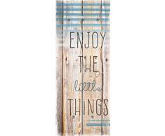 Eurographics Enjoy The Little Things guardaroba da parete guardaroba, colore: marrone, 50 x 125 cm