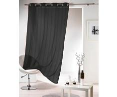 Douceur dintérieur 140 x 240 cm poliestere traslucido lavatrice tendina bande di ciniglia zibellino Mirano Noir, nero
