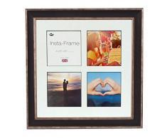 Inov Agosto 16 x 40.64 cm cornici mosaico Instaframe foto per Instagram 13 / piazza e foto in bianco con bianco opaco con bordo, 2 unità, devono essere lavati nero...