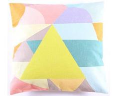 La Finesse Copricuscino Decorativo Quadrato 50 x 50 cm per la casa in Cotone per Soggiorno Divano Camera da Letto cc300, Tessuto colorato, Taglia Unica
