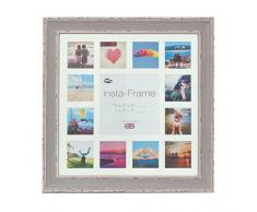 Inov Agosto 16 x 40.64 cm cornici mosaico Instaframe foto per Instagram 13/piazza e foto in bianco con bianco opaco con bordo, 2 unità, devono essere lavati blu