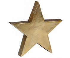 Wohnling Decorazione Stella Decorazione da tavola Stars in Alluminio Colore Oro