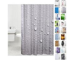Tenda da doccia, doccia tende a scelta molte belle, di alta qualità , Tessuto, Dewdrop, 180 x 200 cm