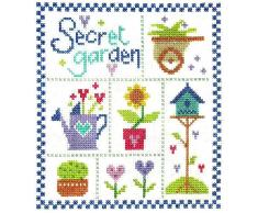 The Stitching Shed - Set per ricamo a punto croce, motivo: il giardino segreto