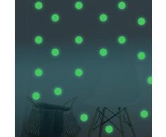 Fillplus Adesivi da Parete DOT Glowing Sticker murale Decalcomanie Arte Soggiorno Scuola Materna Ristorante Hotel Cafe Ufficio Decorazioni per la casa Decorazione, Multicolore