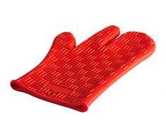 HappyFlex HF05040 Guanto da Forno, Silicone, Red