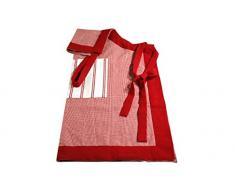 Campagne Table Linen - Grembiule, Colore: Rosso