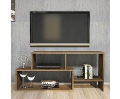 Homemania Mobile Porta TV Clover, Legno, Noce, 121,8x30x53,8 cm