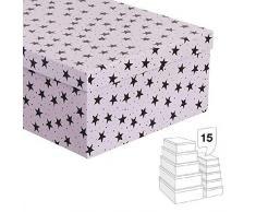 Dcasa - Set di 15 scatole portaoggetti per Decorazioni Natalizie, Articoli per la casa, Unisex, per Adulti, Colore: Unico
