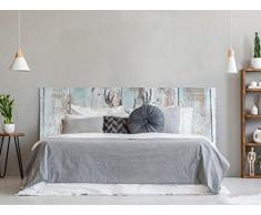 Oedim Testiera per Letto in PVC con Stampa Digitale | Cervo con Triangoli 115 x 60 cm | Testiera Originale ed Economica