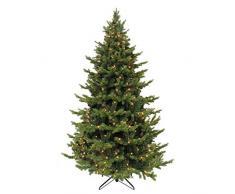 triumph tree Sherwood 288L Tips 2122 - Albero di Natale con luci LED, 215 x 135 cm, Colore: Verde
