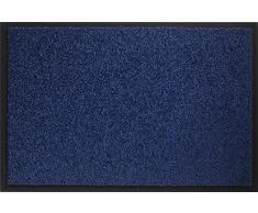 ID MAT 608005 Mirande - Tappeto zerbino in Fibre Nylon e PVC, gommato 80Â x 60Â x 0,9Â cm, Blu, 60 x 80 cm