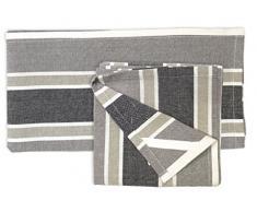 Soleil dOcre 712040 Prestige-Set di 2 strofinacci in cotone Jacquard, 50 x 70 cm, Cotone, grigio, 50 x 70 cm