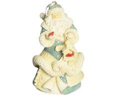 Enesco 4054803 Sospensione Babbo Natale, PVC, Multicolore, 7x8x11 cm