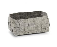 Zeller cestino in feltro, Set, Feltro, grau, 30 x 20 x 14 cm