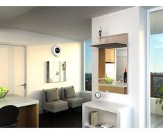 THETA DESIGN by Homemania Mobile ingresso, MOBILE INGRESSO Oxford, Corpo: rovere sonoma, fronte: rovere sonoma pvc