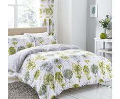 Catherine Lansfield Banbury floreale copripiumino matrimoniale, letto king – verde