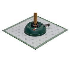 Krinner 94235 - Set Supporto per Albero di Natale Premium L + Coperta Verde (Altezza Albero Fino a 2,70 m, Diametro Tronco 12 cm, Serbatoio Acqua per 3,7 l)
