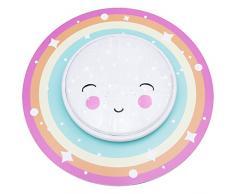 Elobra lampada soffitto lampada star Light Rainbow coperta per bambini, in legno, colori arcobaleno Pastell, 55Â x 55Â x 8Â cm