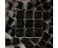 Mosaix Mosaico Piastrelle Ceramica Smaltata 10 x 10 x 3 mm 70 g ~ 150 pz. Nero