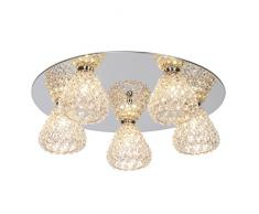 Brilliant 17695/79, lampade da soffitto, in metallo, 33 W, G9, Cromo/Rosso Di Rame, 16 x 52 x 16 cm