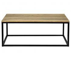 Tavolino iCub da salotto industriale vintage Nero 45x70 40 cm
