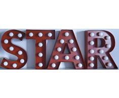 Pusher Mini Las Vegas Decorazioni Luminose per la Casa Letterina L, Metallo, Rosso, 6x4x10 cm