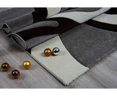Serdim Rugs Ltd - Tappeto Moderno e Morbido, Intagliato a Mano, Spessore 1,2 cm, Idrorepellente e Non stinge, Lavabile (Beige Marrone, 160 x 230 cm