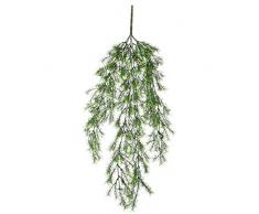 Mica Decorations 1021027springeria haengend–L76cm pianta artificiale, plastica, verde, 76x 21x 21cm