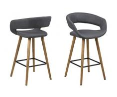 AC Design Furniture Grace 66266 - Sedia, Colore: Grigio, L/B/H ca. 56/43/87 cm