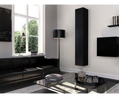 Homemania Theta Design by Armadio, Armadio Graz, Corpo: Nero Opaco, Fronte: Nero Lucido PVC