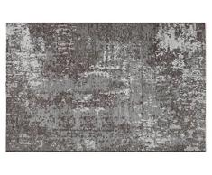 Tappeti di design by Homemania Tappeto Double Face Halimod 10, Misto Cotone, Grigio Chiaro/Grigio Scuro, 38.0x38.0x4.0 cm