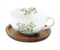 Easy Life 1082saku Cofanetto tazza a The 25Â cl in porcellana + Piattino Acacia Sakura, Multicolore