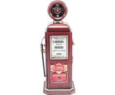 KARE Orologio da tavolo Gasoline, Metallo, Rosso, 25Â x 27Â x 75Â cm