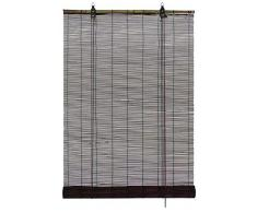 GARDINIA Bamboo Tenda a rullo Cioccolato, montaggio a soffitto o a parete, traslucido, opaco, tutti gli elementi di montaggio inclusi, 120 x 160 cm (LxA)