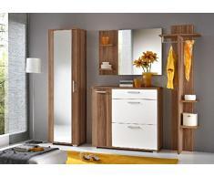 THETA DESIGN by Homemania Mobile ingresso, MOBILE INGRESSO Stockholm, Corpo: prugno, fronte: bianco opaco